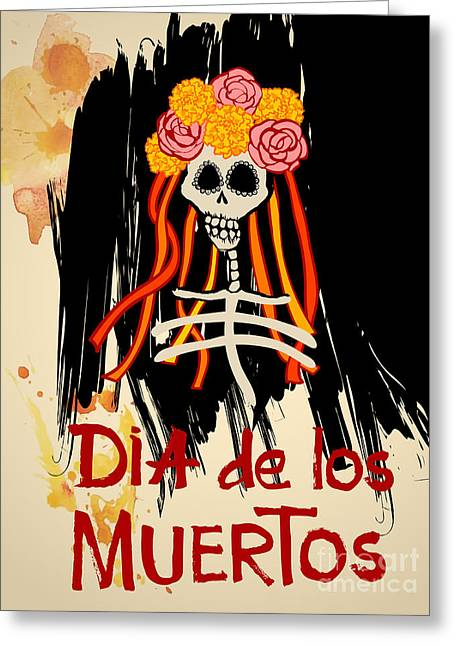 Dia De Los Muertos Day Of The Dead Greeting Card