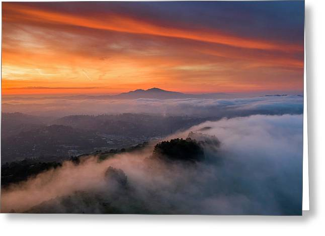 Diablo Rising Greeting Card by Vincent James
