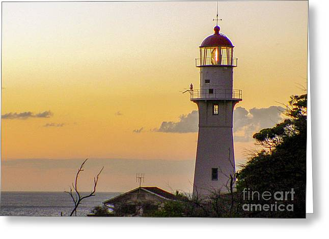 Diamond Head Lighthouse - Honolulu, Hawaii Greeting Card