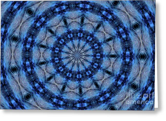 Blue Jay Mandala Greeting Card