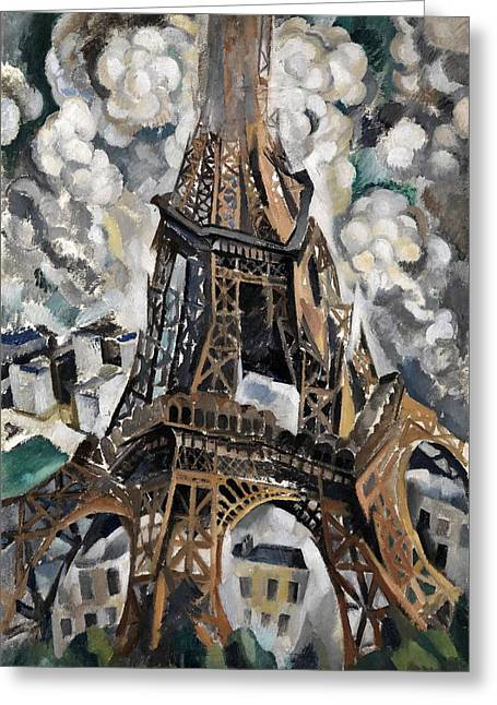 Digital Remastered Edition - Tour Eiffel 1910 Greeting Card