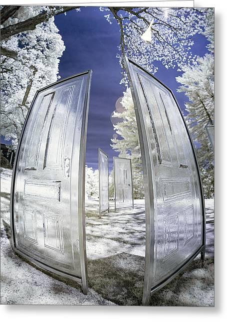 Dimensional Doors Greeting Card