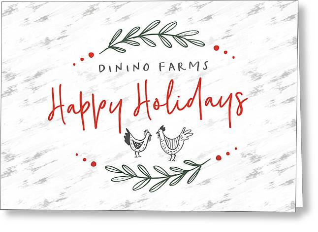 Greeting Card featuring the digital art Dinino Farms- Art By Linda Woods by Linda Woods