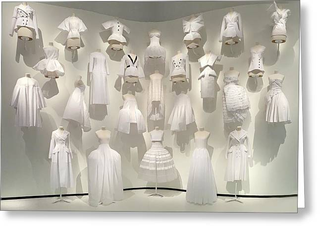 Dior Wall Of Dresses Greeting Card