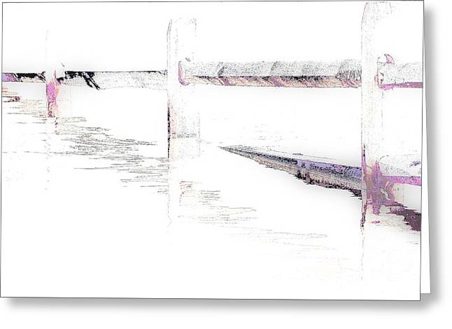 Disappearing Fence Greeting Card