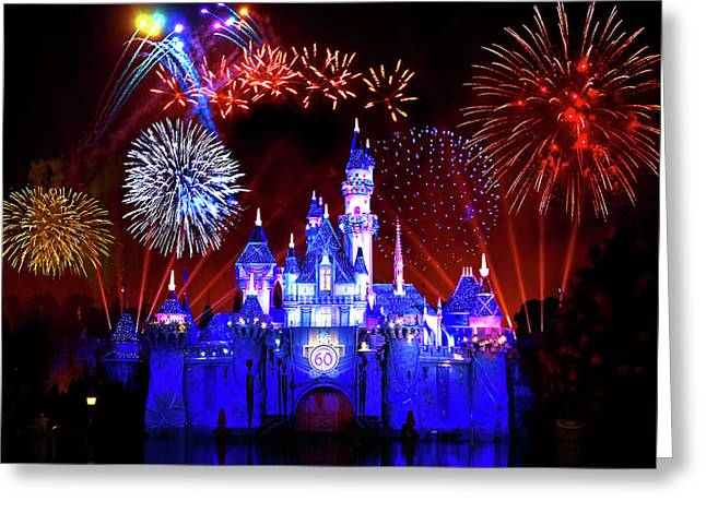 Disneyland 60th Anniversary Fireworks Greeting Card