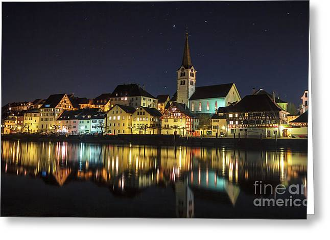 Dissenhofen On The Rhine River Greeting Card