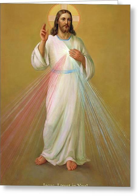 Divine Mercy - Divina Misericordia Greeting Card by Svitozar Nenyuk