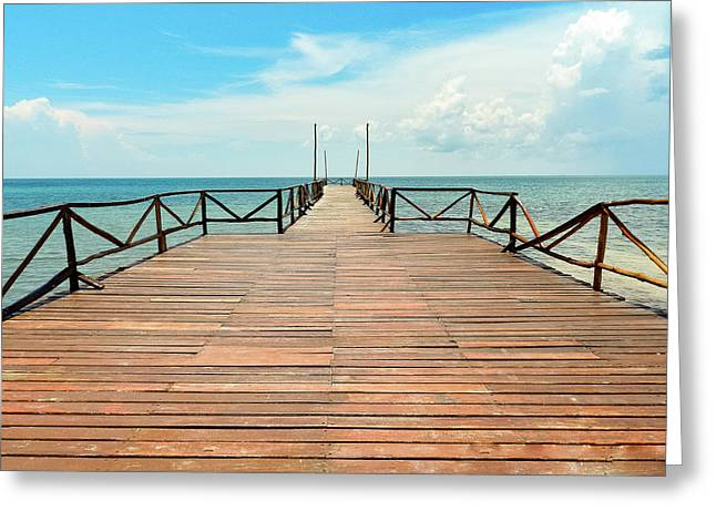 Dock To Infinity Greeting Card