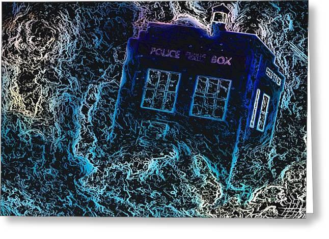 Doctor Who Tardis 3 Greeting Card