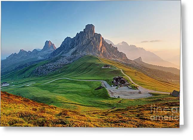 Dolomites Landscape Greeting Card
