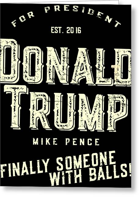 Donald Trump Mike Pence 2016 Vintage Greeting Card