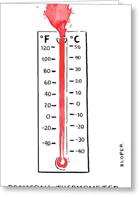 Doomsday Thermometer Greeting Card