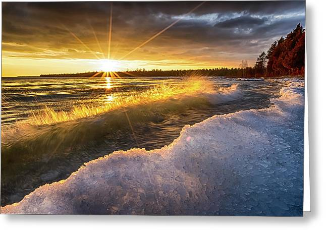 Door County Sunset Greeting Card