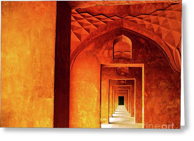 Doors Of India - Taj Mahal Greeting Card