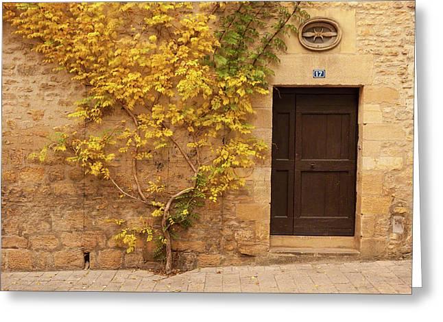 Doorway, Sarlat, France Greeting Card