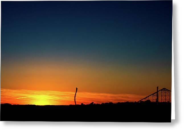 Dorney Park Sunset Greeting Card