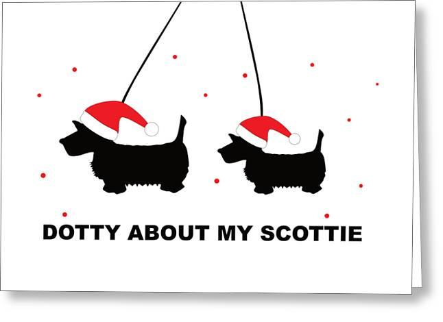 Dotty About My Scottie - Xmas Greeting Card