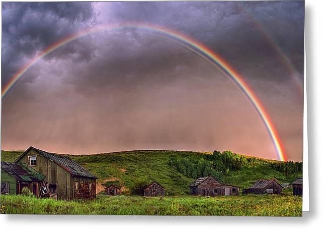 Double Rainbow Rebirth Greeting Card