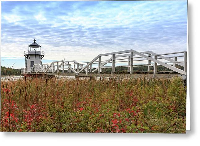 Doubling Point Lighthouse In Maine Greeting Card