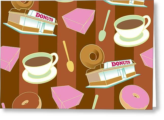 Doughnut_wallpaper_f2 Greeting Card
