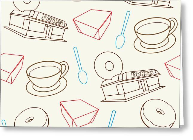 Doughnut_wallpaper_f3 Greeting Card