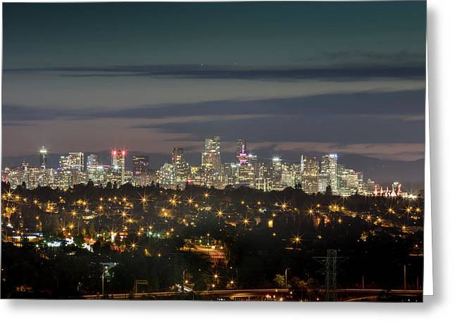 Downtown Dusk Greeting Card