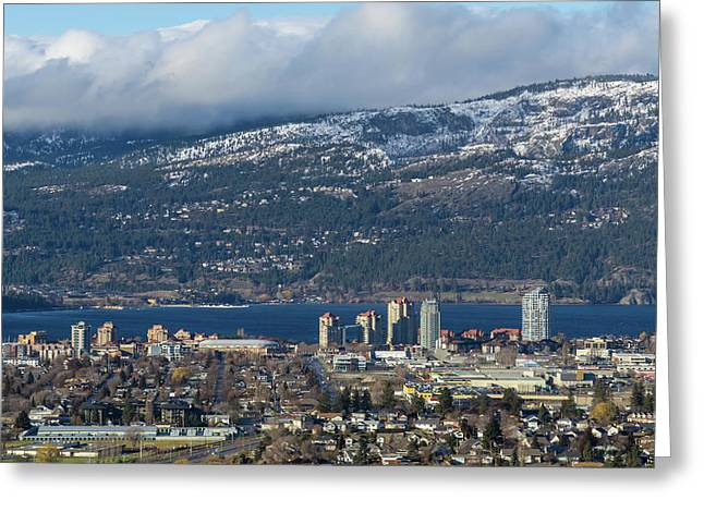 Downtown Kelowna From Dilworth Greeting Card