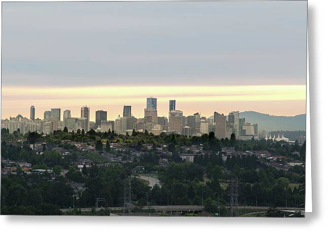 Downtown Sunset Greeting Card