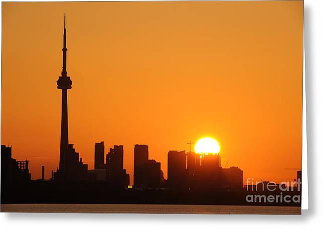 Downtown Toronto At Sunrise Greeting Card