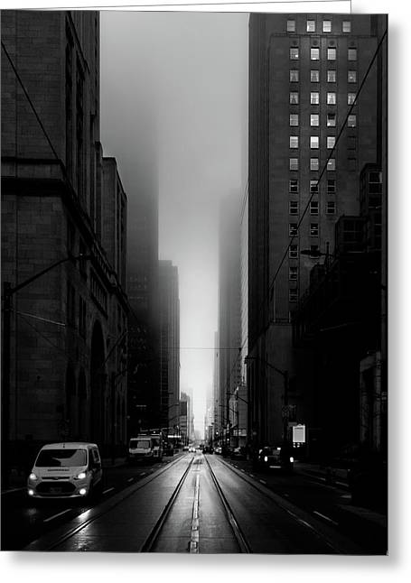 Downtown Toronto Fogfest No 26 Greeting Card