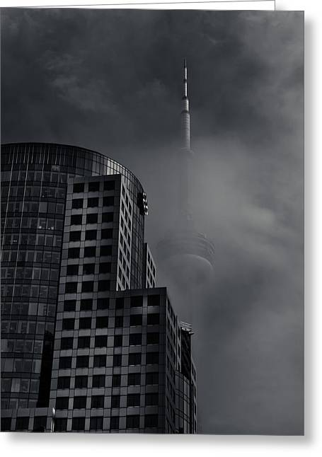 Downtown Toronto Fogfest No 7 Greeting Card