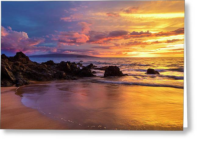 Dramatic Clouds During A Sunset Greeting Card
