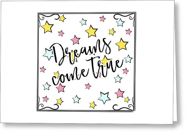 Dreams Come True - Baby Room Nursery Art Poster Print Greeting Card