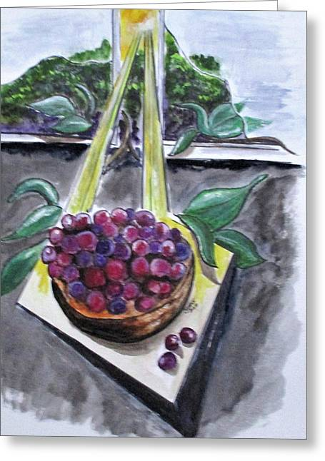 Dreams Of Grapes Greeting Card