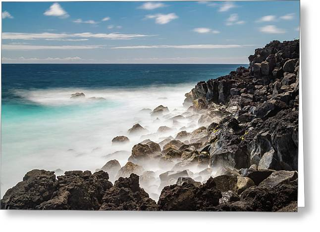Dreamy Hawaiian Coastline Greeting Card