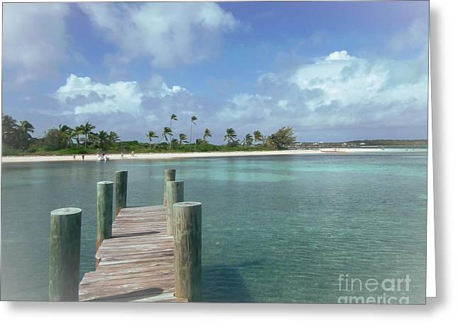 Dreamy View Beach Greeting Card