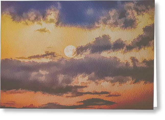 Dreamy Moon Greeting Card