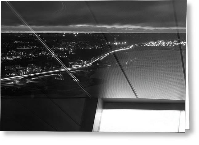 Driving At Night Greeting Card by Tapio Koivula