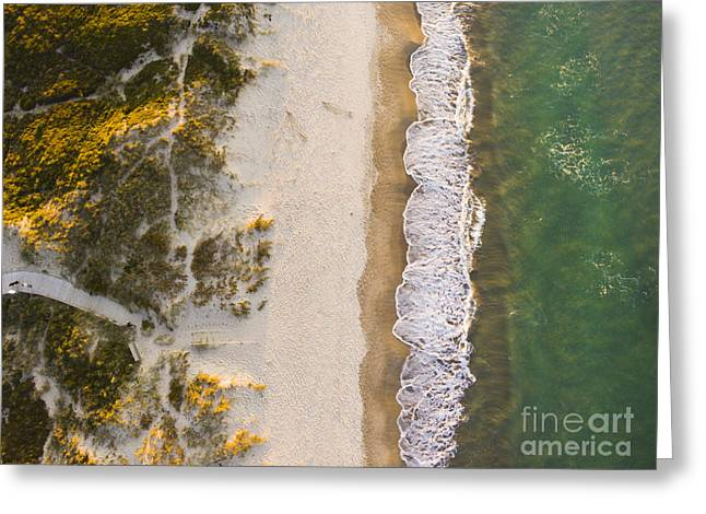 Drone Shot. Aerial Photography. East Greeting Card