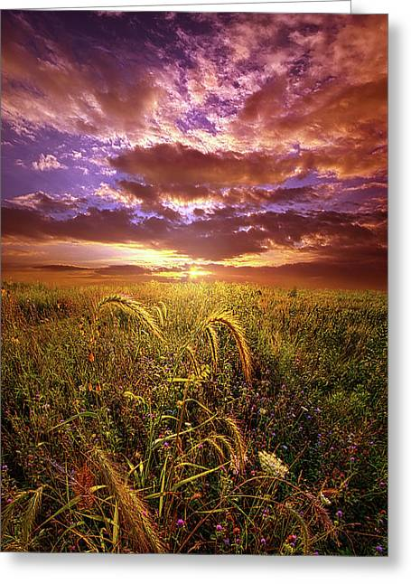 Greeting Card featuring the photograph Drwing Near by Phil Koch