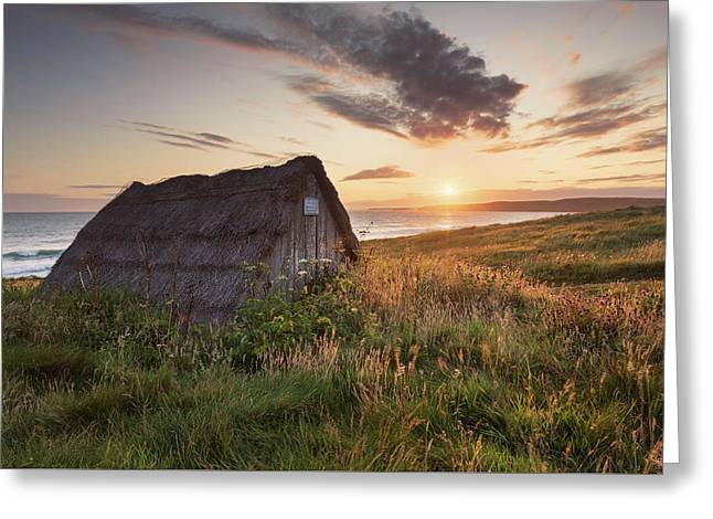 Drying Hut - Freshwater West Greeting Card