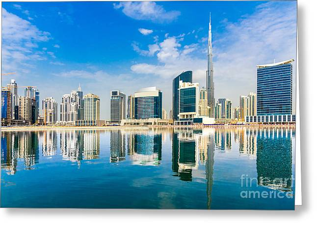Dubai Skyline, Uae Greeting Card