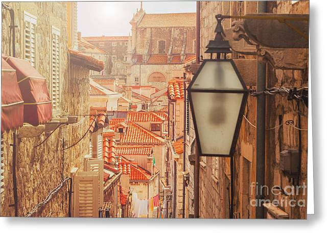 Dubrovnik Old City Street View Greeting Card