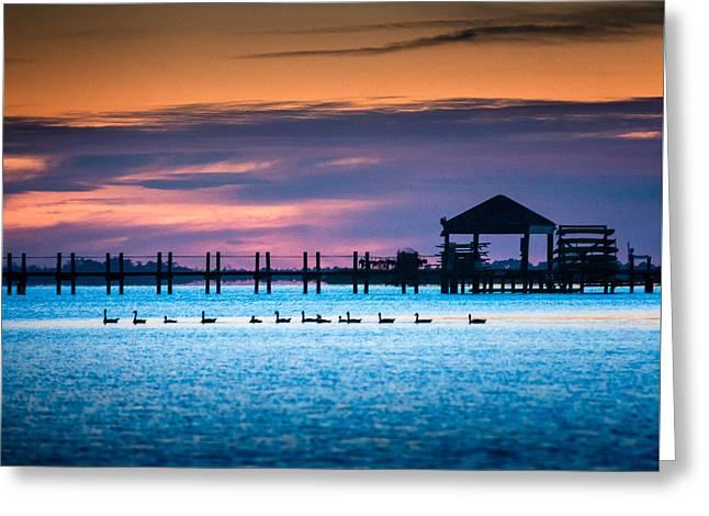 Duck Sunset - Outer Banks North Carolina Greeting Card