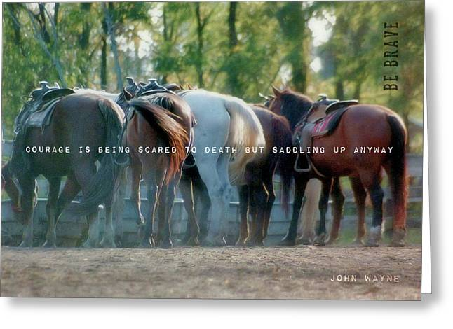 Dude Ranch Quote Greeting Card by JAMART Photography