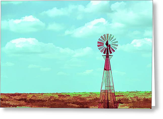 Dueling Tones Windmill Greeting Card