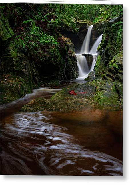 Duggers Creek Falls - Blue Ridge Parkway - North Carolina Greeting Card