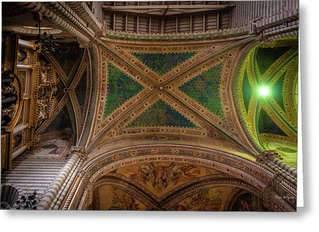 Greeting Card featuring the photograph Dumo De Orvieto Ceiling by Tim Bryan