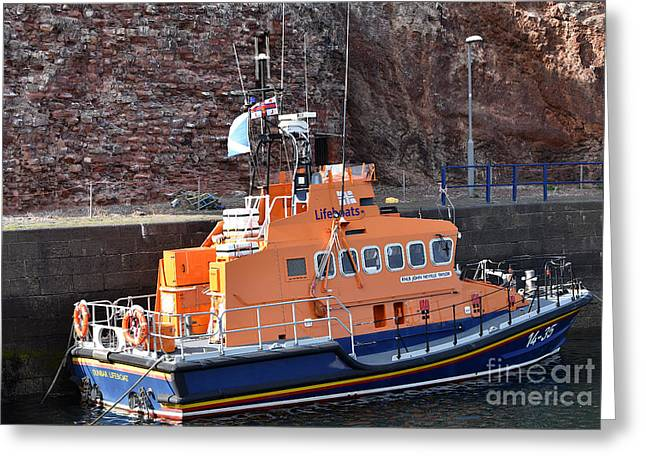 Dunbar Lifeboat Greeting Card by Yvonne Johnstone